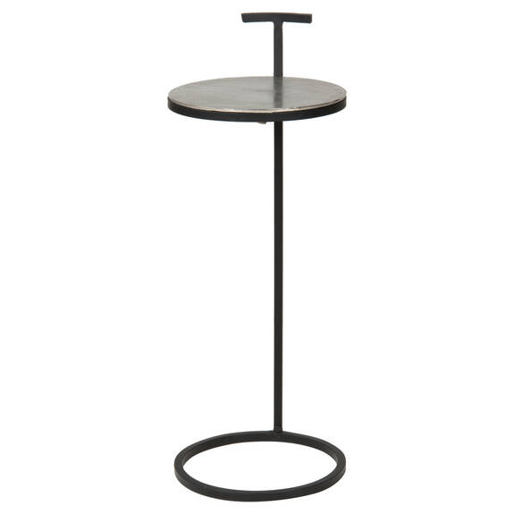 Torres Accent Table -Raw Nickel