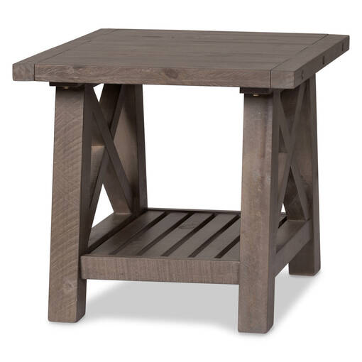 Ironside Side Table -Rustic Grey