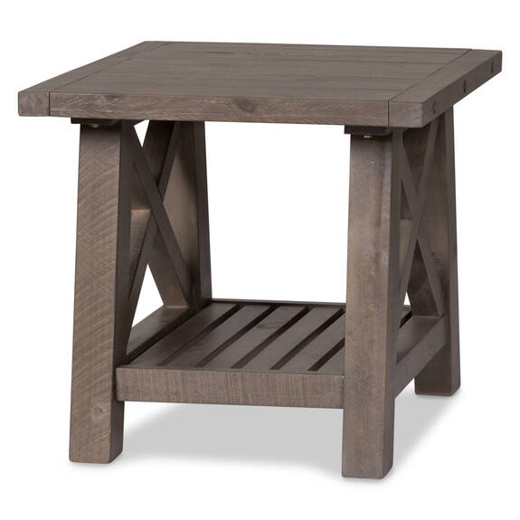 Table d'appoint Ironside -gris rustique