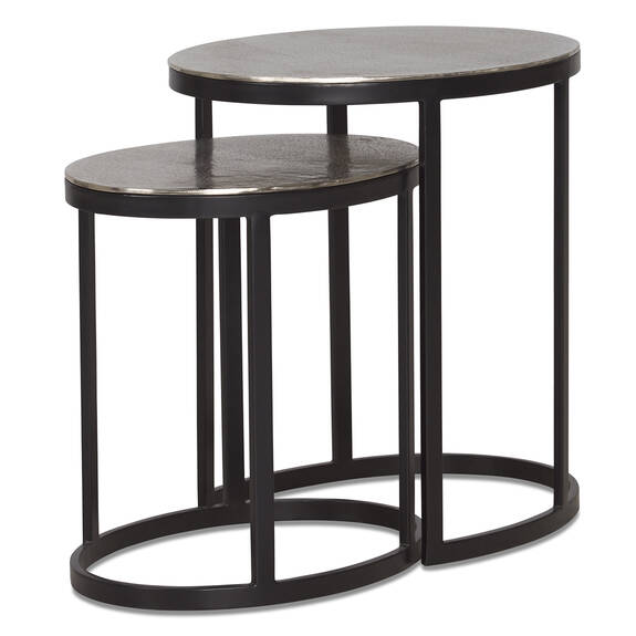 Marley Nesting Table -Raw Nickel