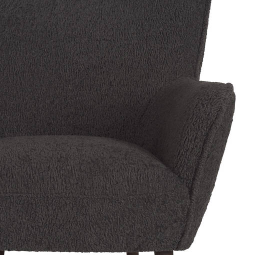 Fauteuil Dolly -Woolly charbon
