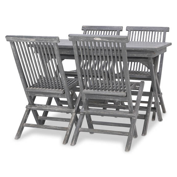 Galiano 5PC Patio Set -Teak Grey