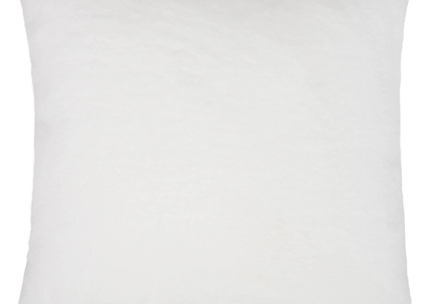Flora Faux Fur Toss 24x24 White