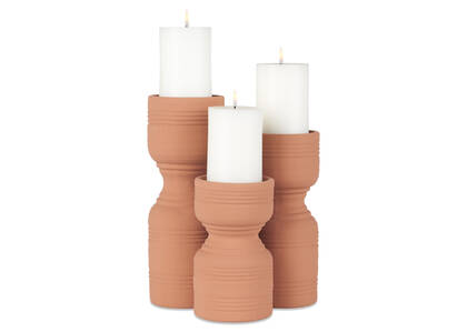 Rife Candle Holders Terracotta