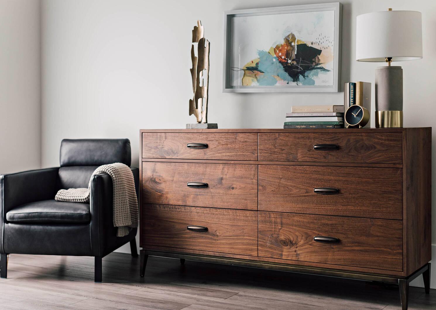 Houston 6 Drawer Dresser -Harris Walnut