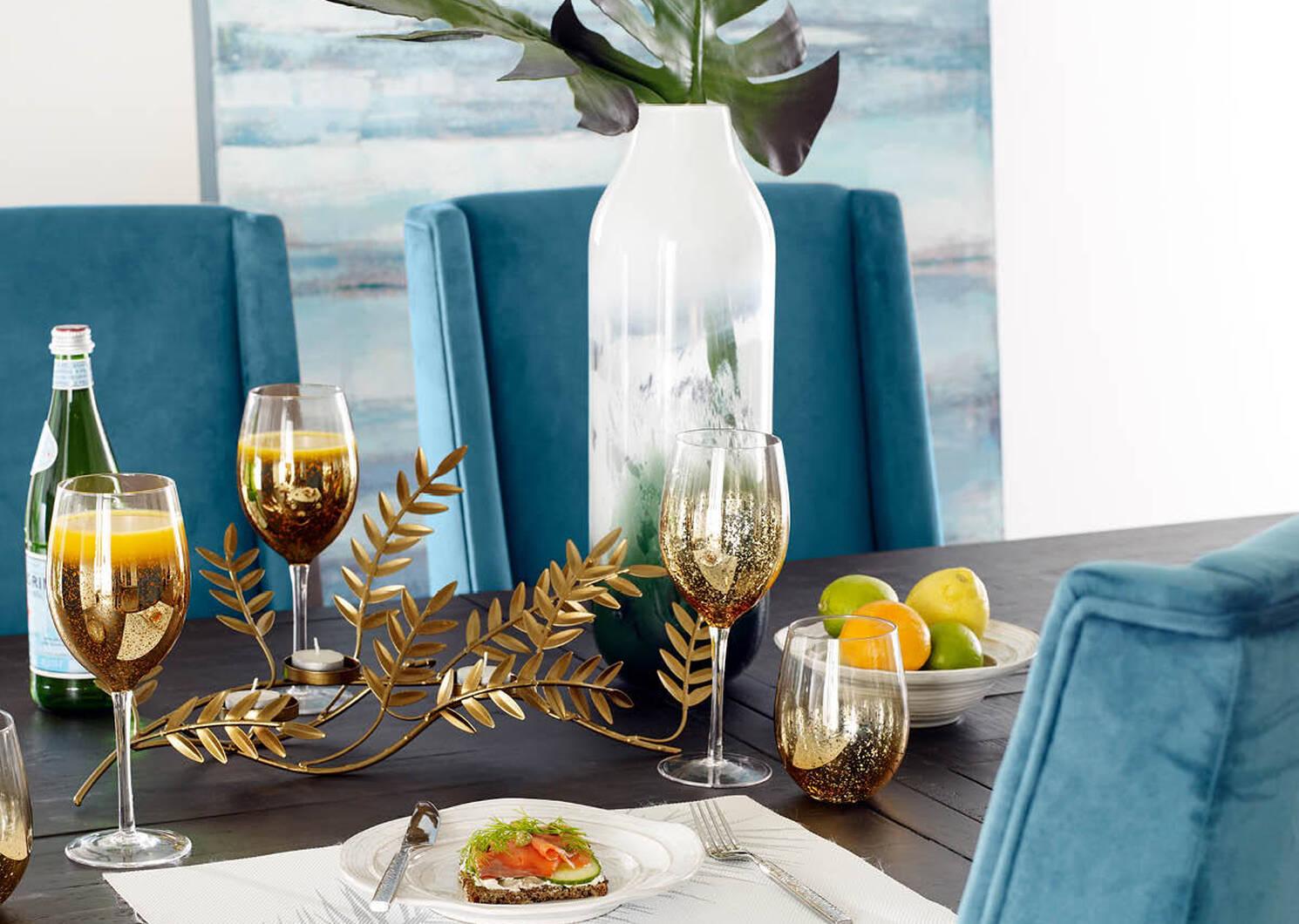 Shimmer Glassware - Gold