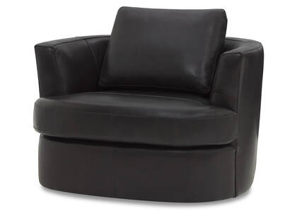 Fauteuil piv. cuir Beverly -Andre gris