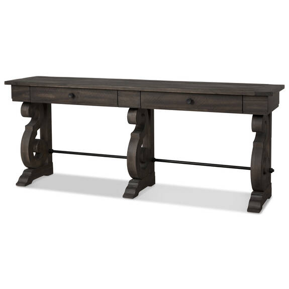 Table console Churchill -caroube