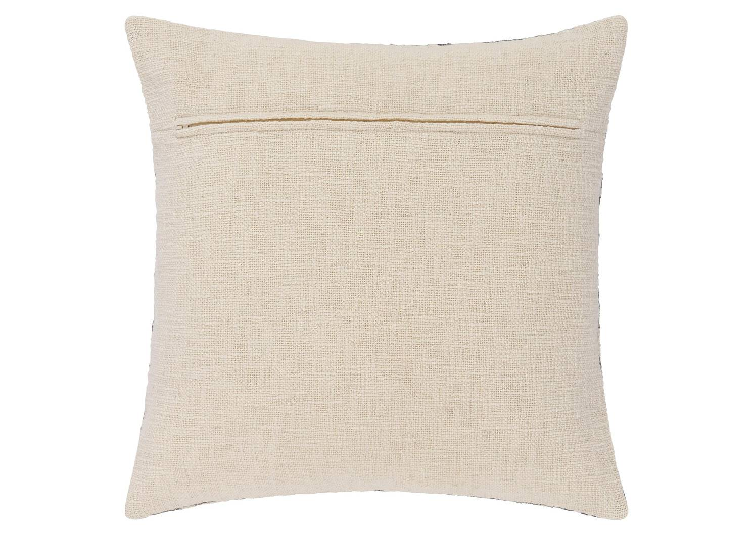 Coussin texturé Leeside 20x20 ivoire/gr