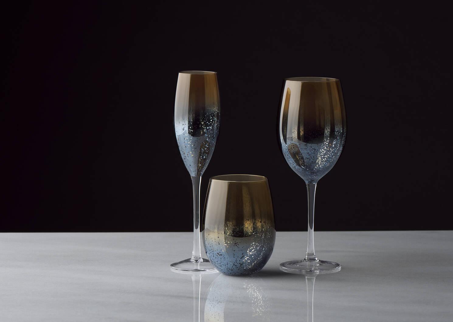 Rhapsody Champagne Flute Sunset/Blue