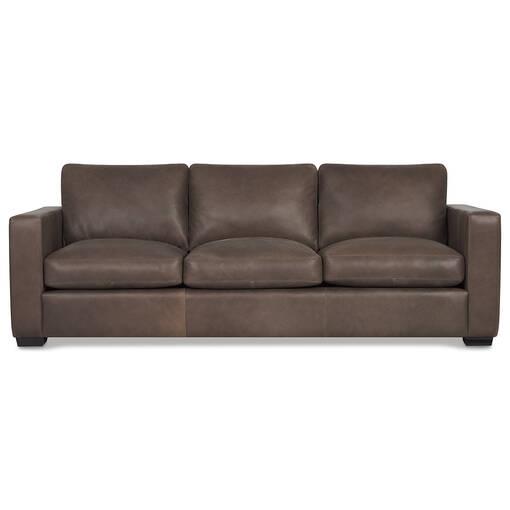 Brewer Leather Sofa -Attica Cocoa