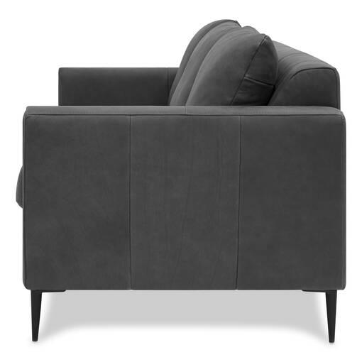 Canapé en cuir Lucca -Attica ardoise