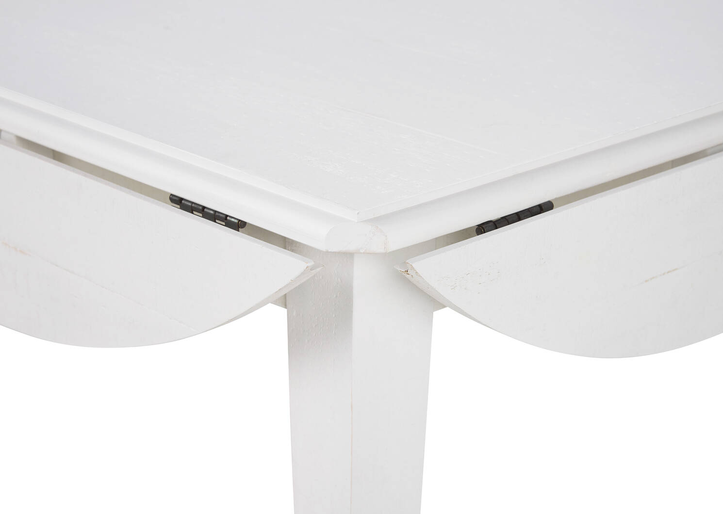 Febe Drop Leaf Dining Table -Heron White