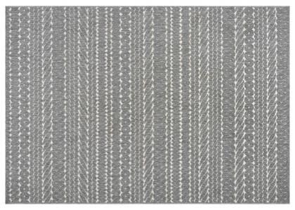 Tapis motifs de corde Nita - gris/ivoire
