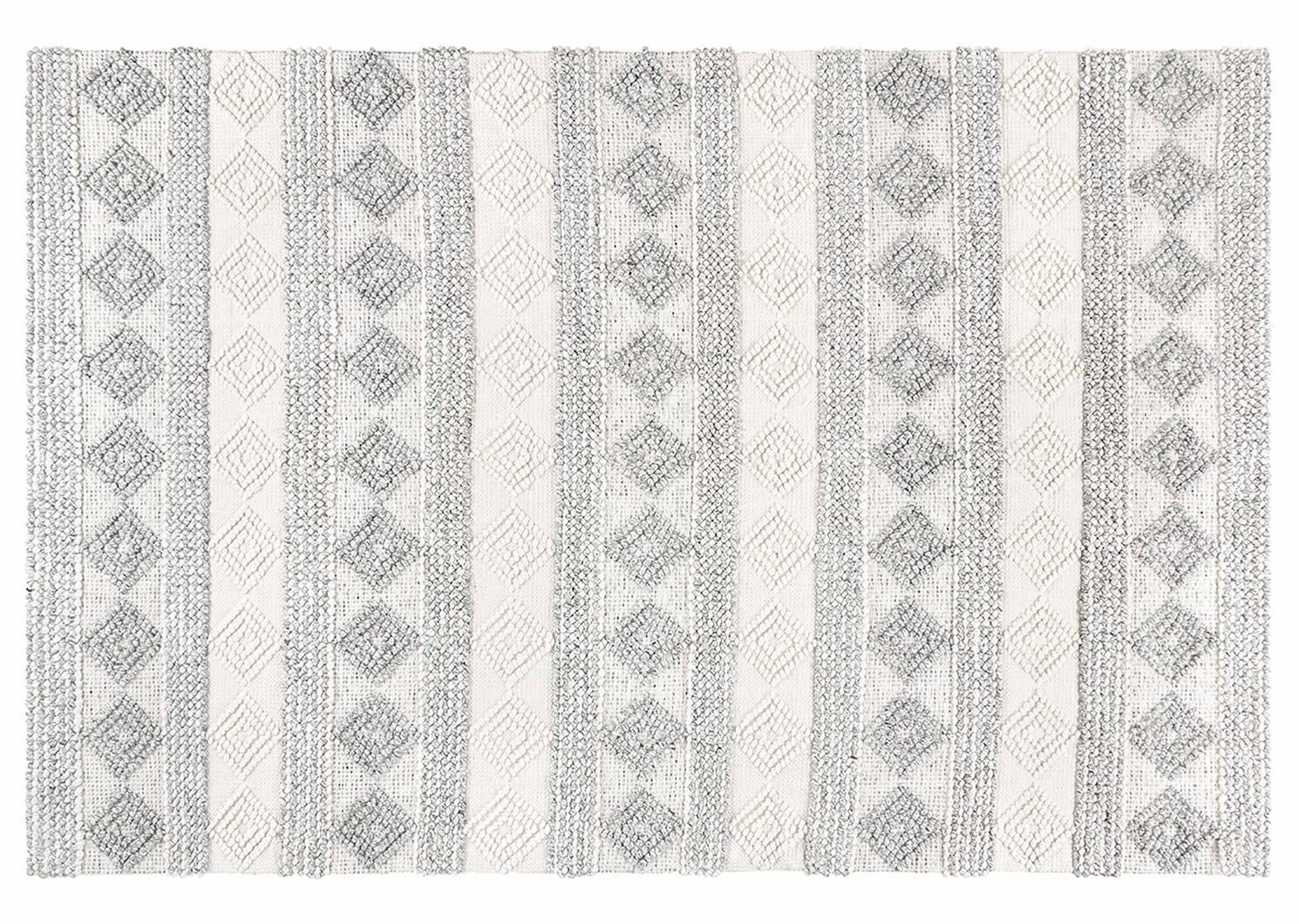 Tapis Arkun 60x96 blanc/gris