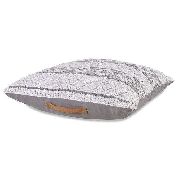 Samar Floor Cushion Grey/Ivory