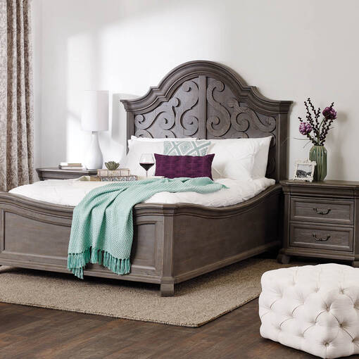 Churchill Bed -Pewter, KING
