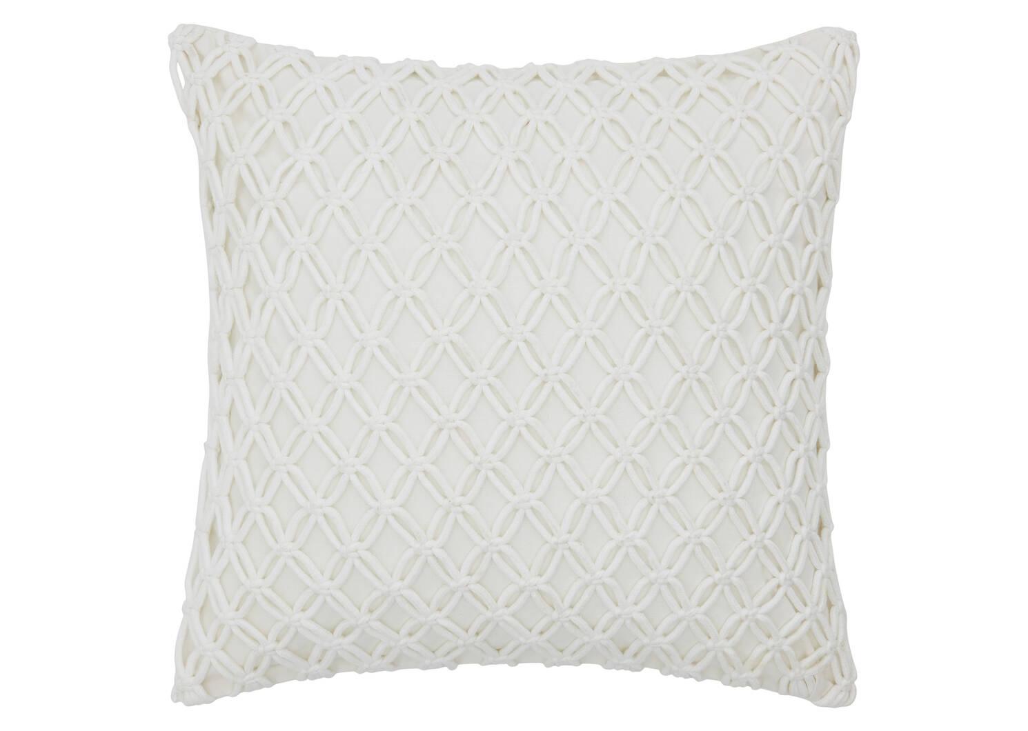 Coussin Corde 20x20 blanc