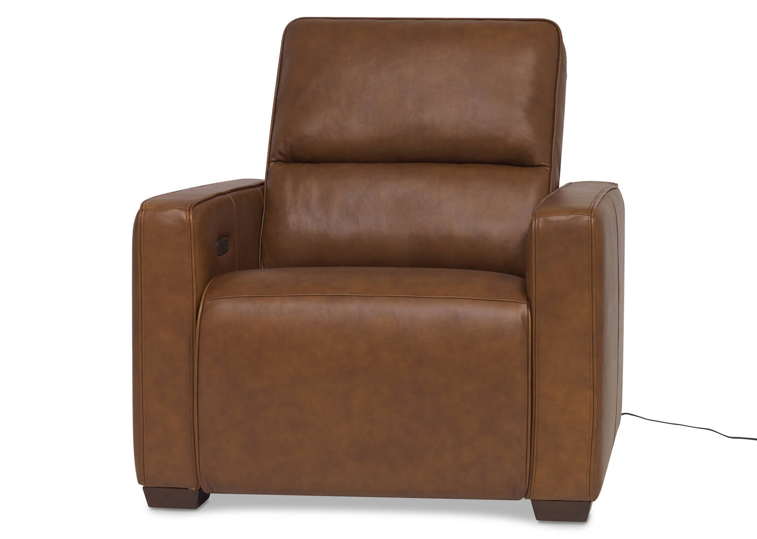 Reese Leather Recliner -Arlo Rum
