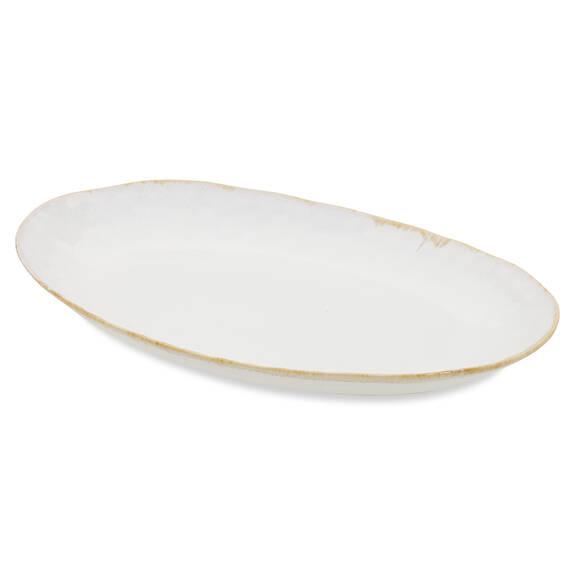 Crofton Glazed Serving Platter White