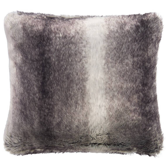 Haven Faux Fur Toss 20x20 Grey Wolf