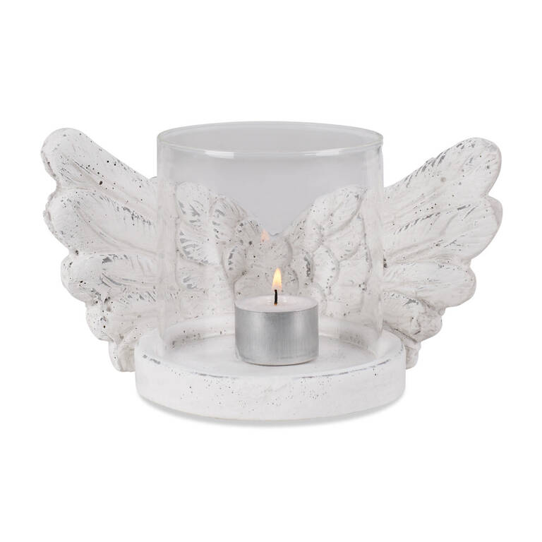Gabrielle Candle Holder White