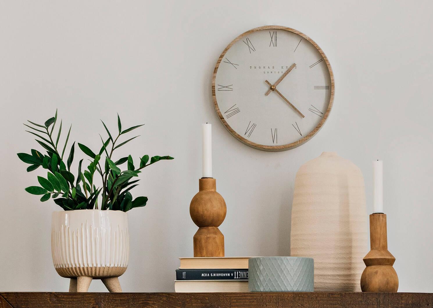 Calder Wall Clock White