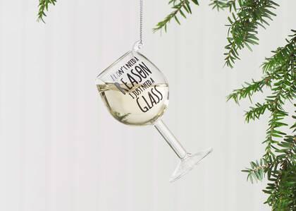 Cheers White Wine Orn