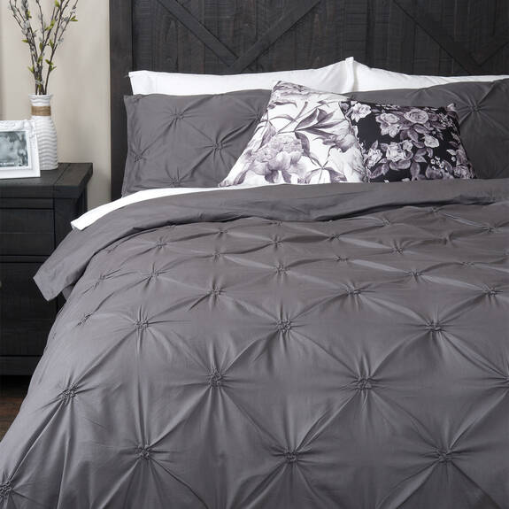 Blanka Duvet Set - Grey