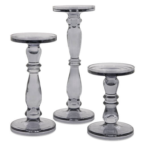 Agatha Candle Holders -Grey
