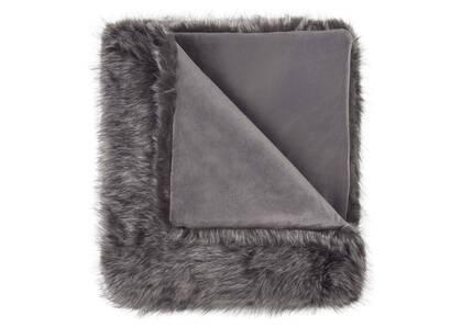 Northern Faux Fur Throw Silver Fox