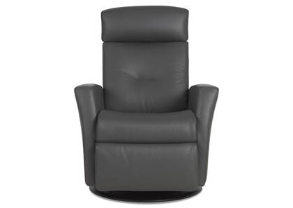Drake Leather Recliner -Tre Graphite