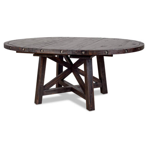 Ironside Ext Dining Table Rnd -Café