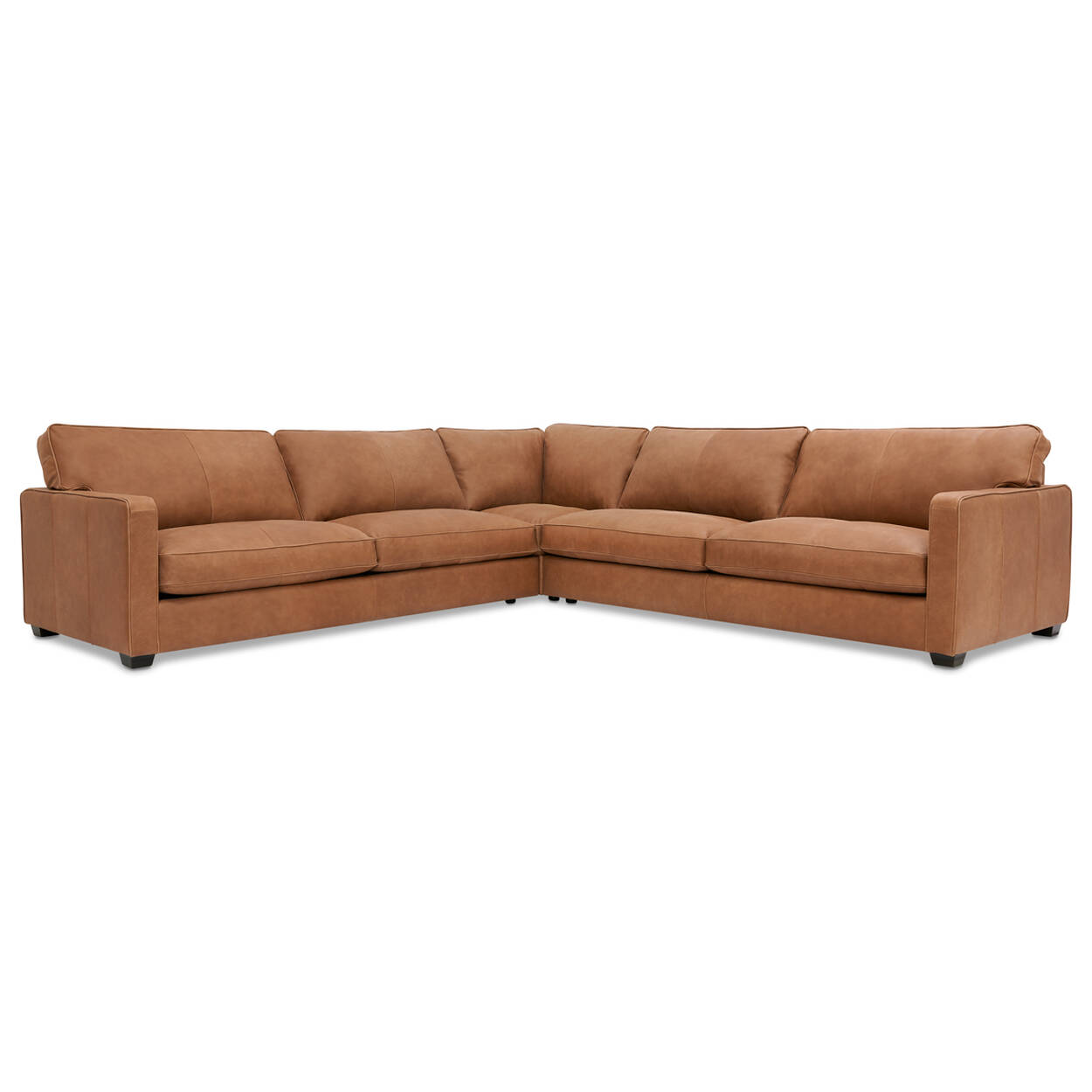 finest selection 58471 b6a70 Burke Custom Leather Sectional