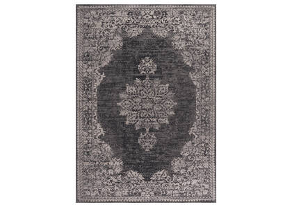 Estate Rug 96x120 Black/Grey