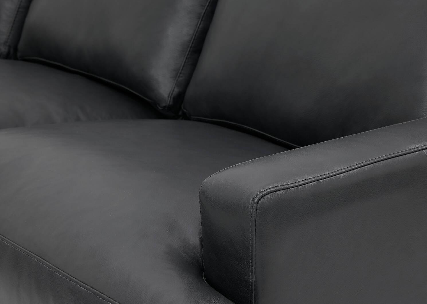 Savoy Custom Leather Sofa