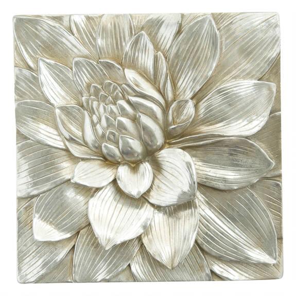 Petalis Large Wall Tile Silver