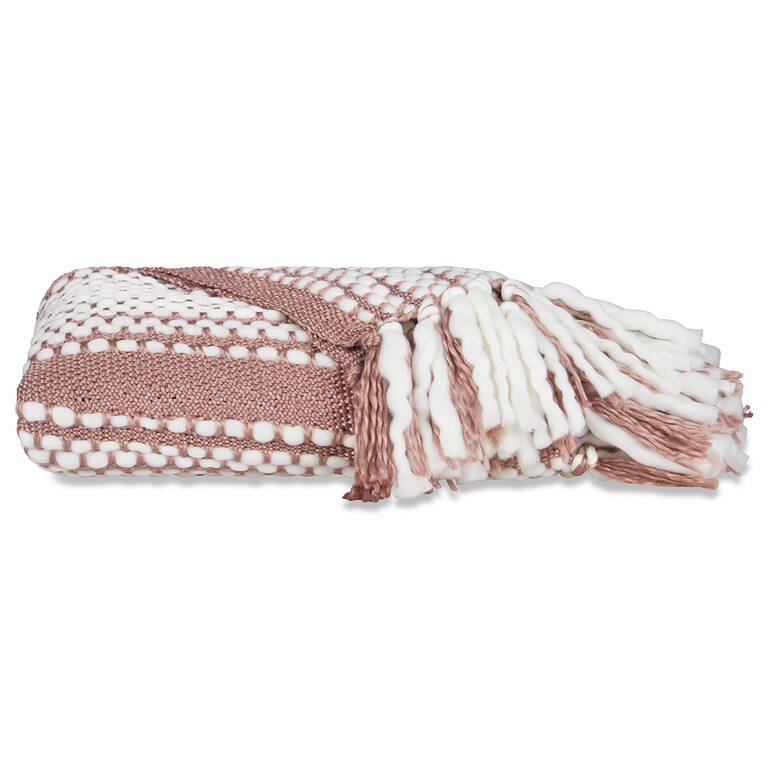 Nicaila Throw Ballet Pink/Ivory