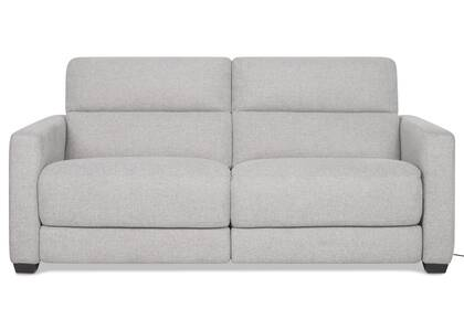 Keptner Reclining Sofa - Belfast Silver