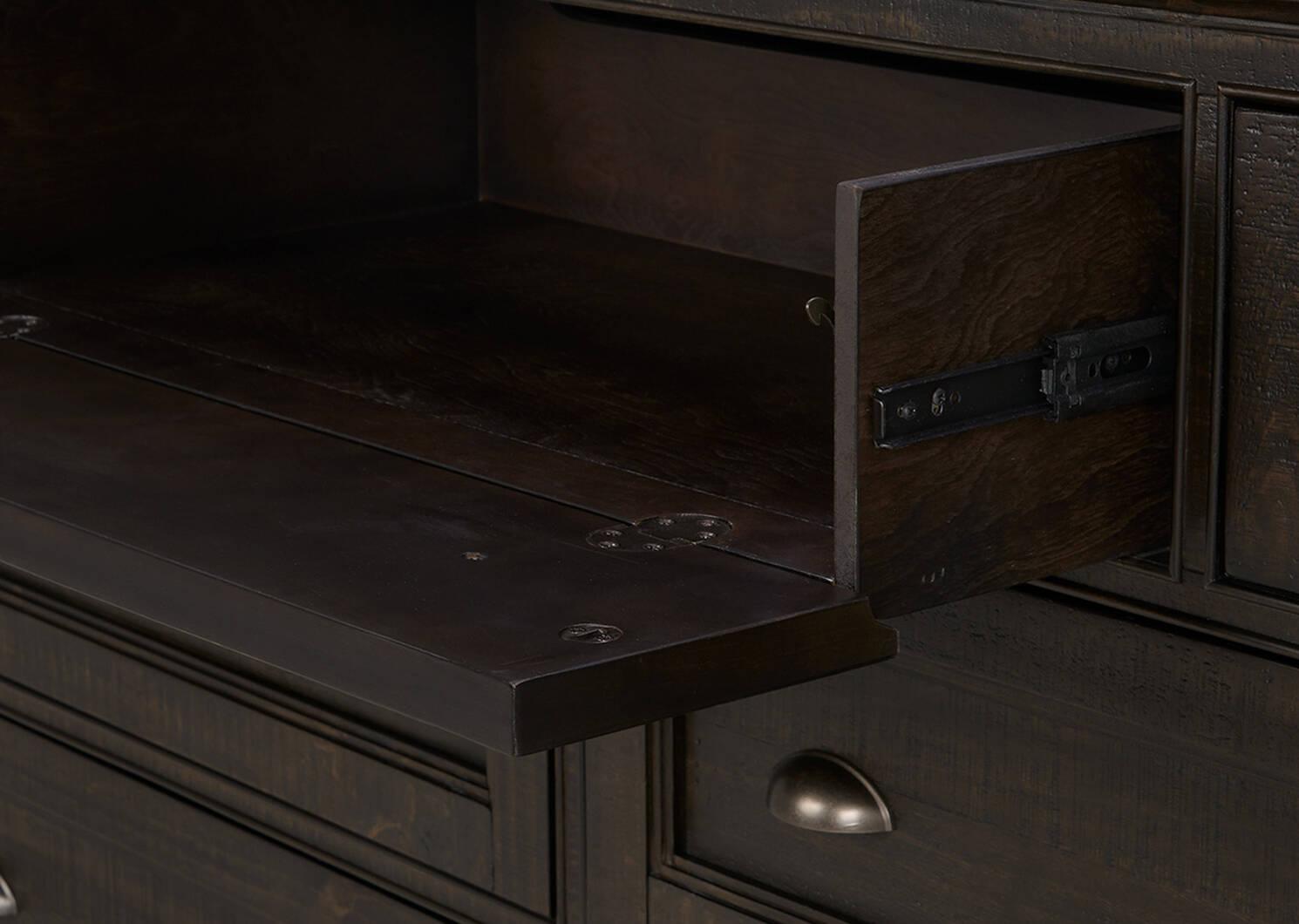 Bureau à 7 tiroirs Parker -Héron charbon