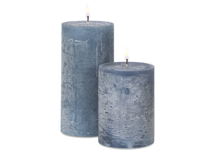 Raylan Candles - Dusty Blue