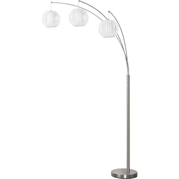 Lantern 3 Floor Lamp White/Nickel