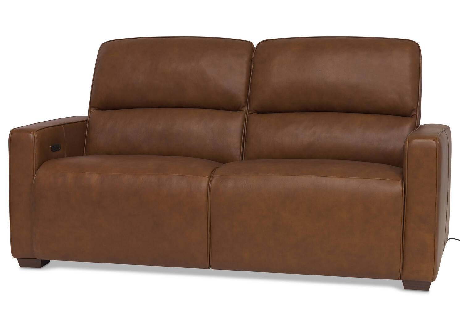 Reese Leather Reclining Sofa -Arlo Rum