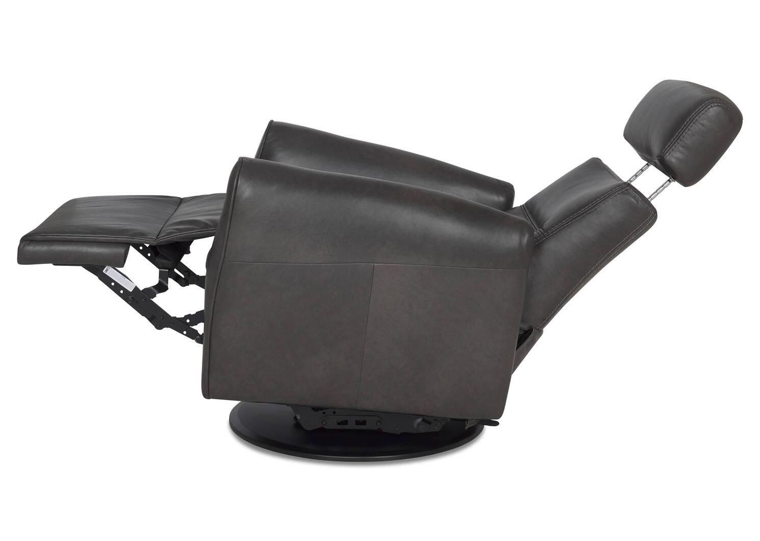 Bennett Leather Recliner -Sol Slate