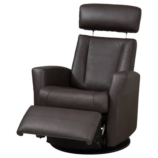 Belvedere Leather Recliner -Tre Brown
