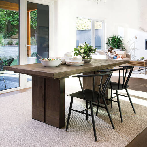 Mandalay Dining Table Rect Dune Brown