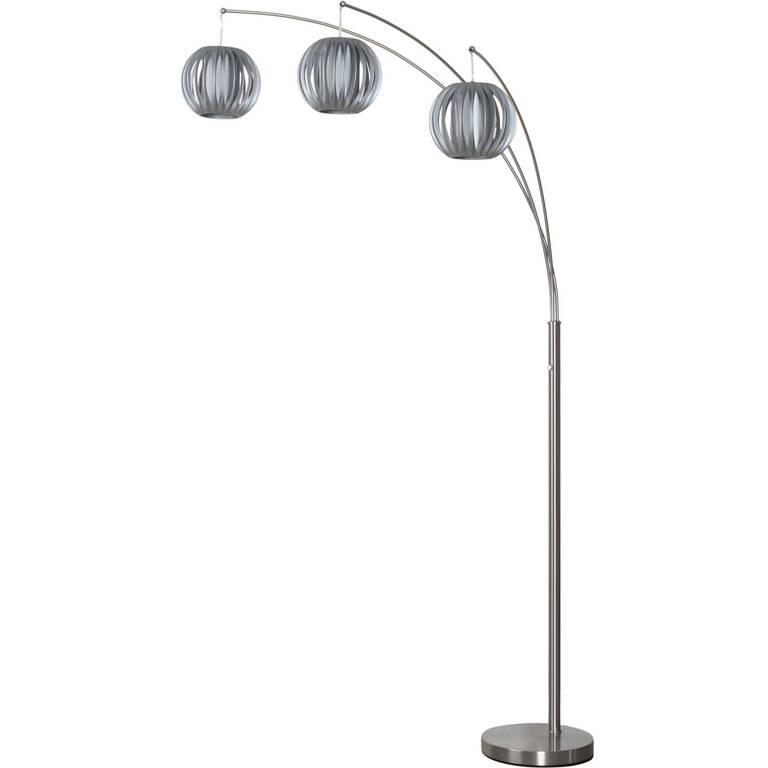 Lantern 3 Floor Lamp Grey/Nickel