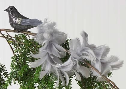 Dinah Long Tail Bird Orn Silver
