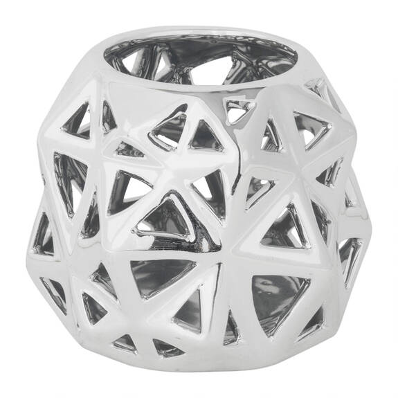 Anais Tealight Holder Small Silver