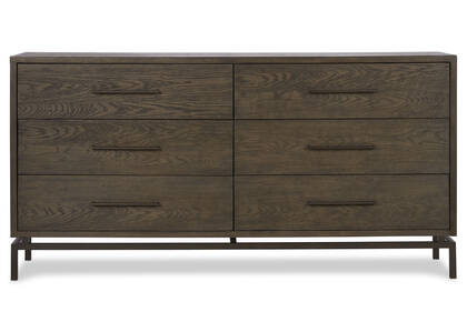 Aiden 6 Drawer Dresser -Delano Sable